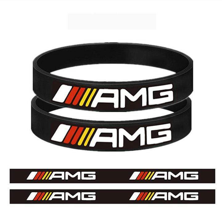 Broshop Bracelet Black Colorful [2 Pieces] Mercedes AMG Bracelet