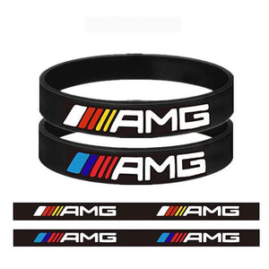 Broshop Bracelet Black Colorful & Black AMG [2 Pieces] Mercedes AMG Bracelet