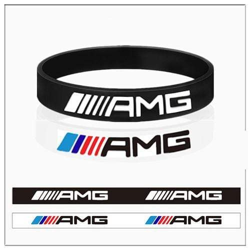 Broshop Bracelet Black & White AMG [2 Pieces] Mercedes AMG Bracelet