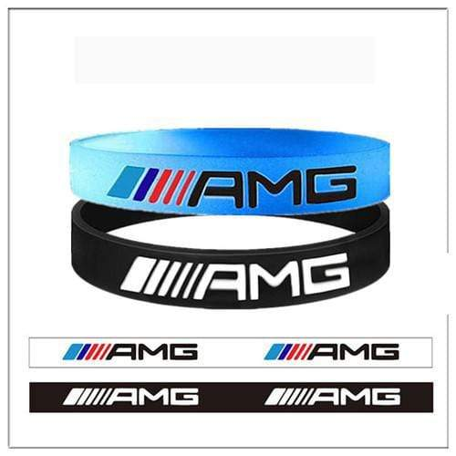 Broshop Bracelet Luminous AMG & Black AMG [2 Pieces] Mercedes AMG Bracelet