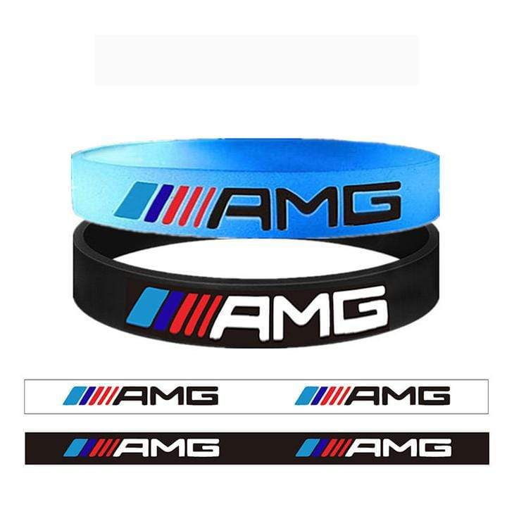 Broshop Bracelet Luminous AMG & Black AMGs [2 Pieces] Mercedes AMG Bracelet