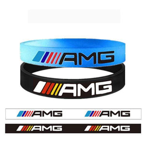 Broshop Bracelet Luminous AMG & Black Colorful [2 Pieces] Mercedes AMG Bracelet