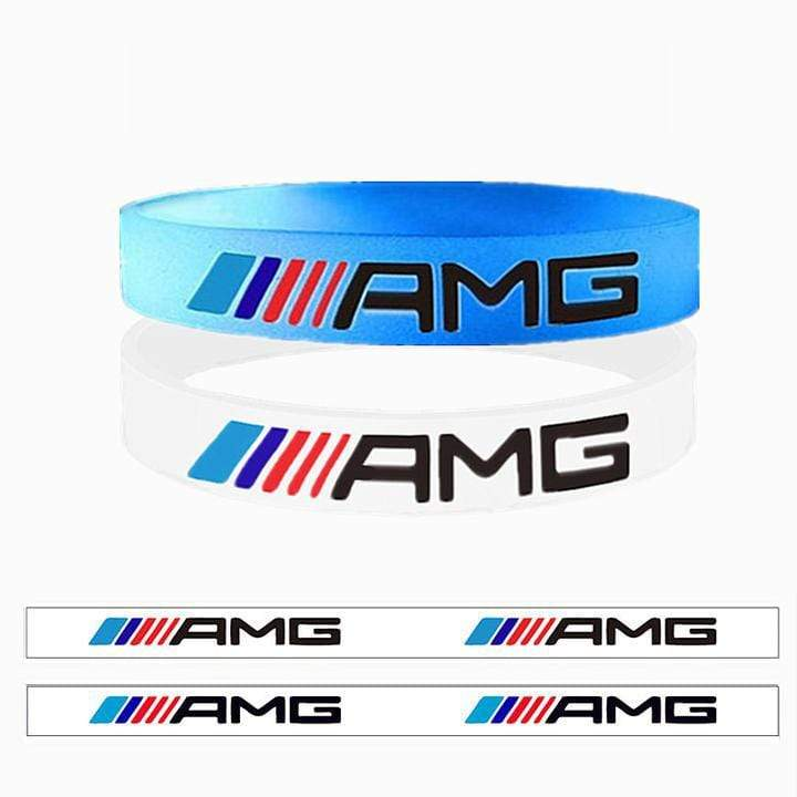 Broshop Bracelet Luminous AMG &  White AMG [2 Pieces] Mercedes AMG Bracelet