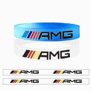 Broshop Bracelet Luminous AMG& White Germany [2 Pieces] Mercedes AMG Bracelet