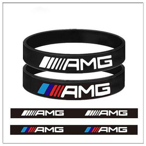 Broshop Bracelet Two Black AMG [2 Pieces] Mercedes AMG Bracelet