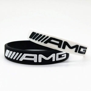 Broshop Bracelet White & Black [2 Pieces] Mercedes AMG Bracelet
