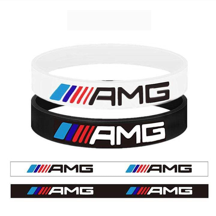 Broshop Bracelet White & Black AMG [2 Pieces] Mercedes AMG Bracelet