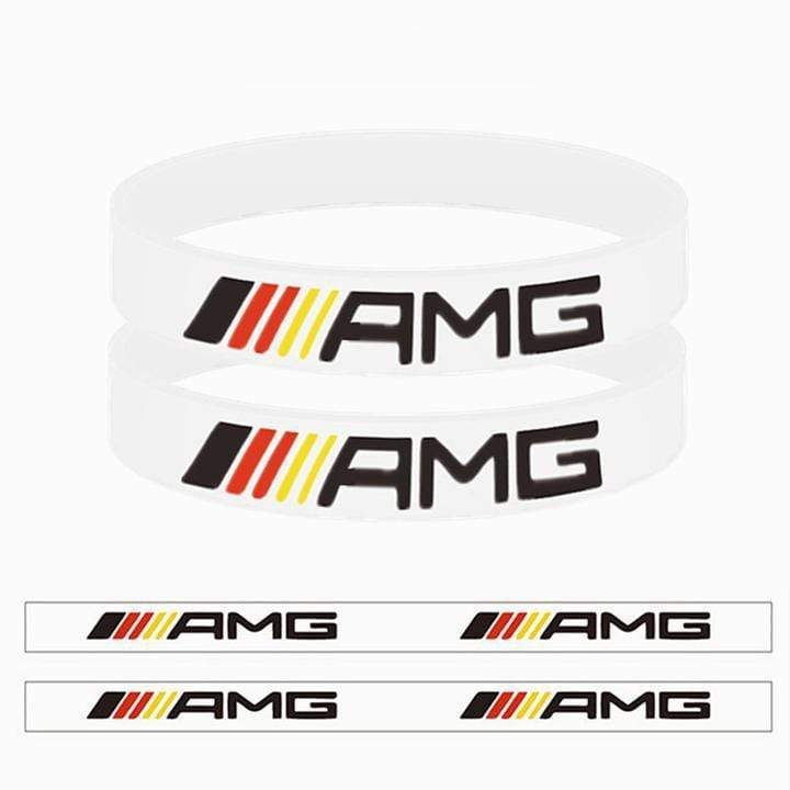Broshop Bracelet White Germany AMG [2 Pieces] Mercedes AMG Bracelet