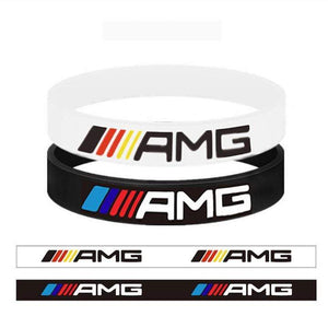 Broshop Bracelet White Germany & Black AMG [2 Pieces] Mercedes AMG Bracelet