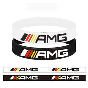 Broshop Bracelet White Germany & Black Colorful [2 Pieces] Mercedes AMG Bracelet