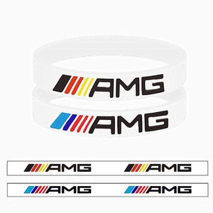 Broshop Bracelet White Germany & White AMG [2 Pieces] Mercedes AMG Bracelet