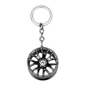 Broshop Keychain Black Car Wheel Keychain