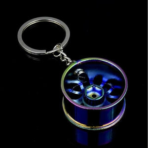 Broshop Keychain Colorful Car Wheel Keychain