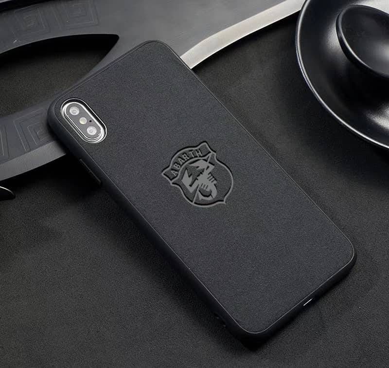 Broshop Phone Case Abarth / Samsung Galaxy S8 Samsung Luxury Alcantara Case (Audi, Abarth, Ferrari, Ford...)