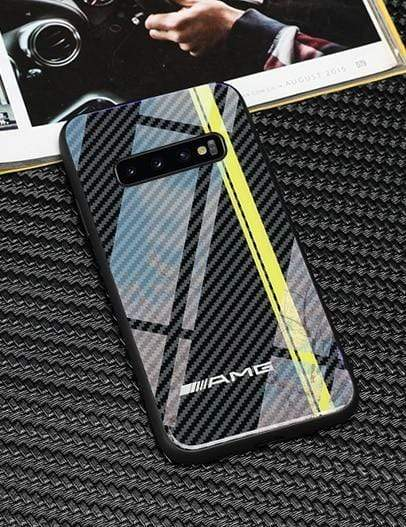 Broshop Phone Case AMG Line / Samsung Galaxy S8 Samsung Tempered Glass Carbon Fiber Case