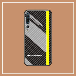 Broshop Phone Case AMG Line / Xiaomi 10 Xiaomi Tempered Glass Case AUDI/BENTLEY/MASERATI