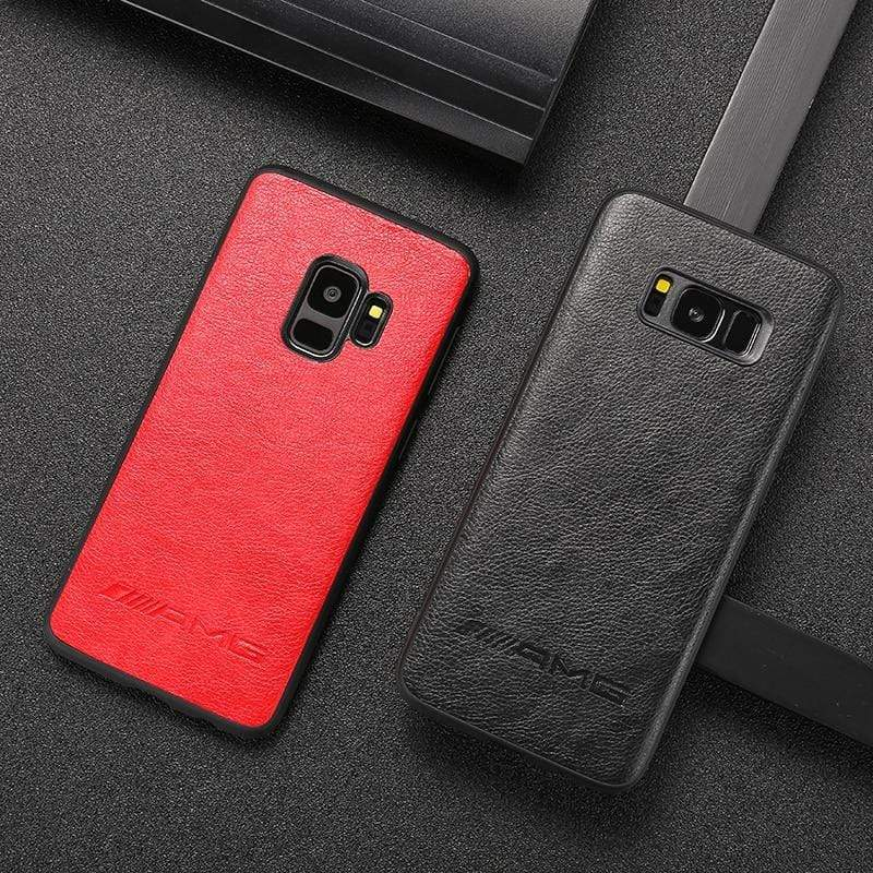 BroShop Phone Case AMG PU Faux Leather Samsung Case