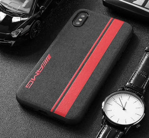 Broshop Phone Case AMG Red Line / Iphone 6/6S LIMITED EDITION Luxury Suede/Alcantara Iphone Case