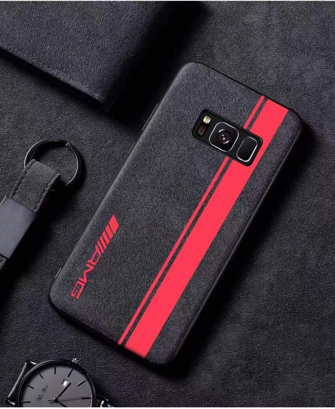 Broshop Phone Case AMG Red Line / Samsung Galaxy S8 LIMITED EDITION Luxury Suede/Alcantara Samsung Case