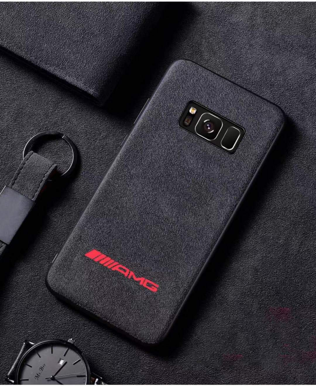 Broshop Phone Case AMG Red / Samsung Galaxy S8 LIMITED EDITION Luxury Suede/Alcantara Samsung Case