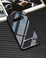Broshop Phone Case AMG / Samsung Galaxy S8 Samsung Tempered Glass Carbon Fiber Case