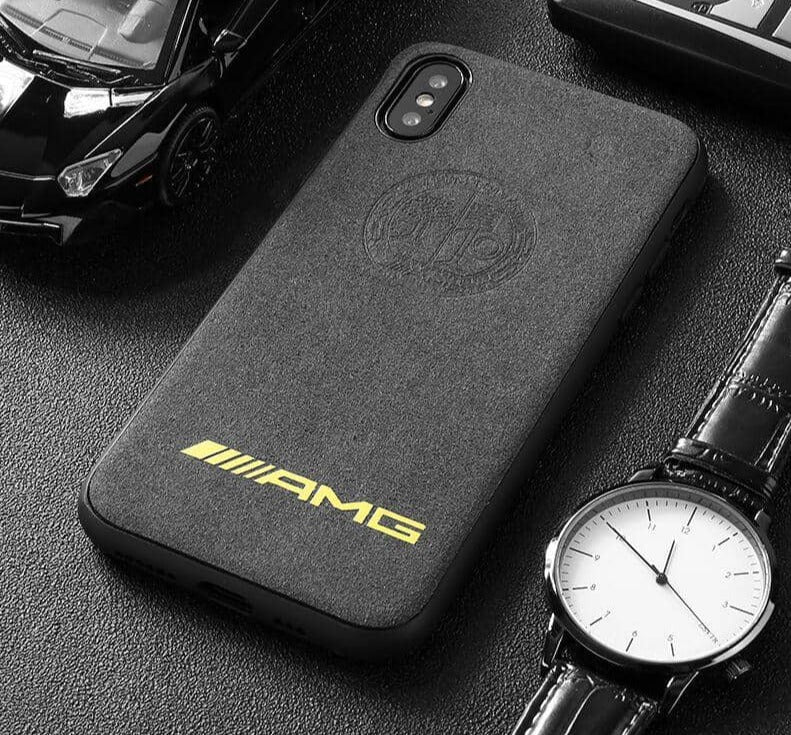 Broshop Phone Case AMG Yellow Affalterbach / Iphone 6/6S LIMITED EDITION Luxury Suede/Alcantara Iphone Case