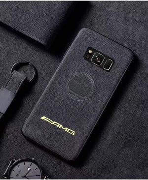 Broshop Phone Case AMG Yellow Affalterbach / Samsung Galaxy S8 LIMITED EDITION Luxury Suede/Alcantara Samsung Case