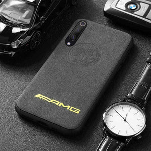 Broshop Phone Case AMG Yellow Affalterbach / Xiaomi Mi 6 LIMITED EDITION Luxury Suede/Alcantara Xiaomi Case