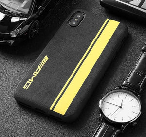 Broshop Phone Case AMG Yellow Line / Iphone 6/6S LIMITED EDITION Luxury Suede/Alcantara Iphone Case