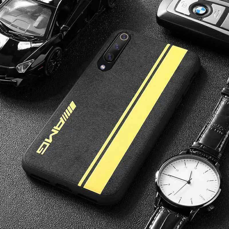 Broshop Phone Case AMG Yellow Line / Xiaomi Mi 6 LIMITED EDITION Luxury Suede/Alcantara Xiaomi Case
