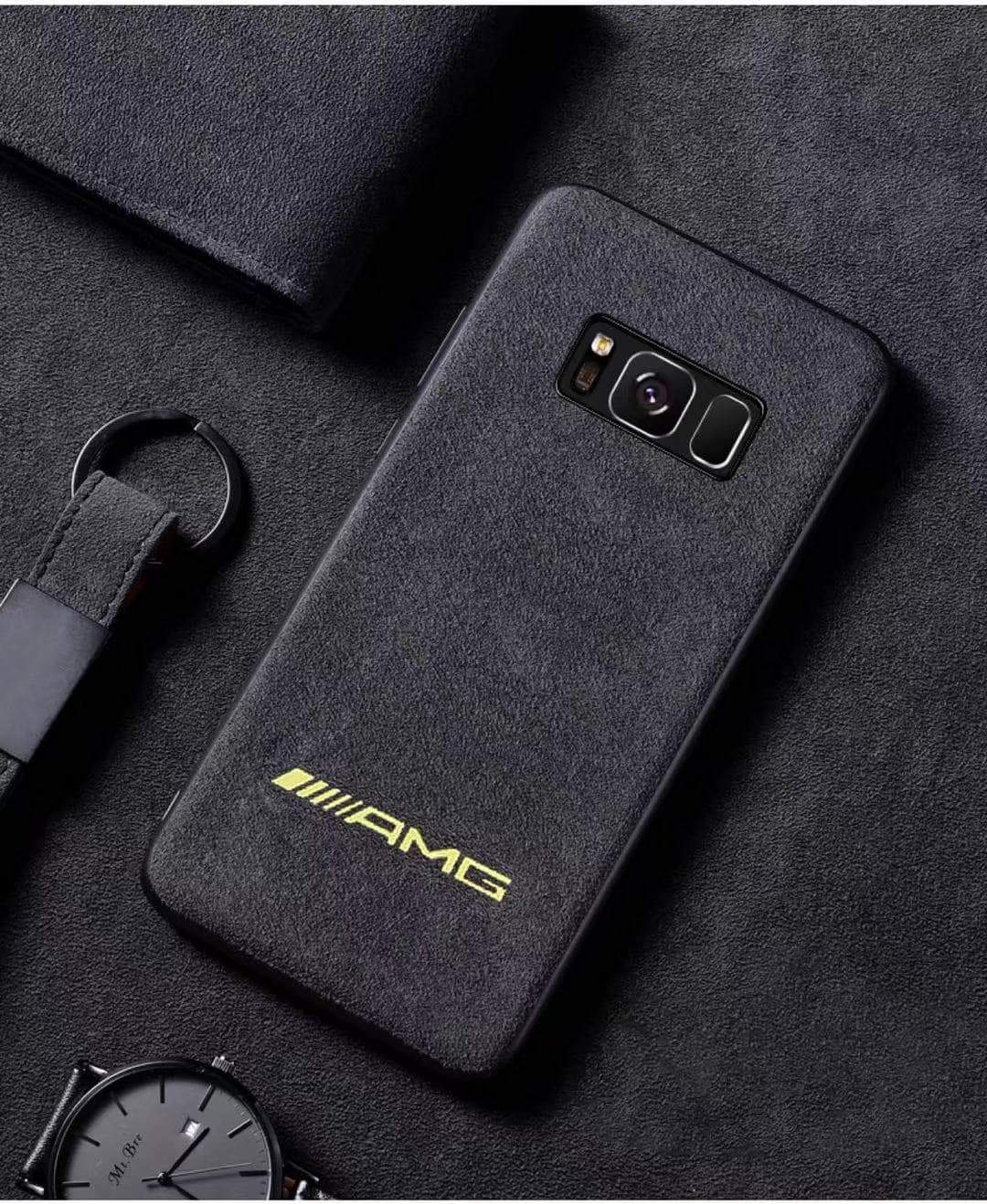 Broshop Phone Case AMG Yellow / Samsung Galaxy S8 LIMITED EDITION Luxury Suede/Alcantara Samsung Case