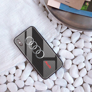 Broshop Phone Case AUDI / Iphone 6/6S Iphone Tempered Glass Case AUDI/BENTLEY/MASERATI