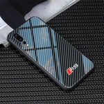 Broshop Phone Case AUDI RS / Huawei Mate 20 Huawei Tempered Glass Carbon Fiber Case