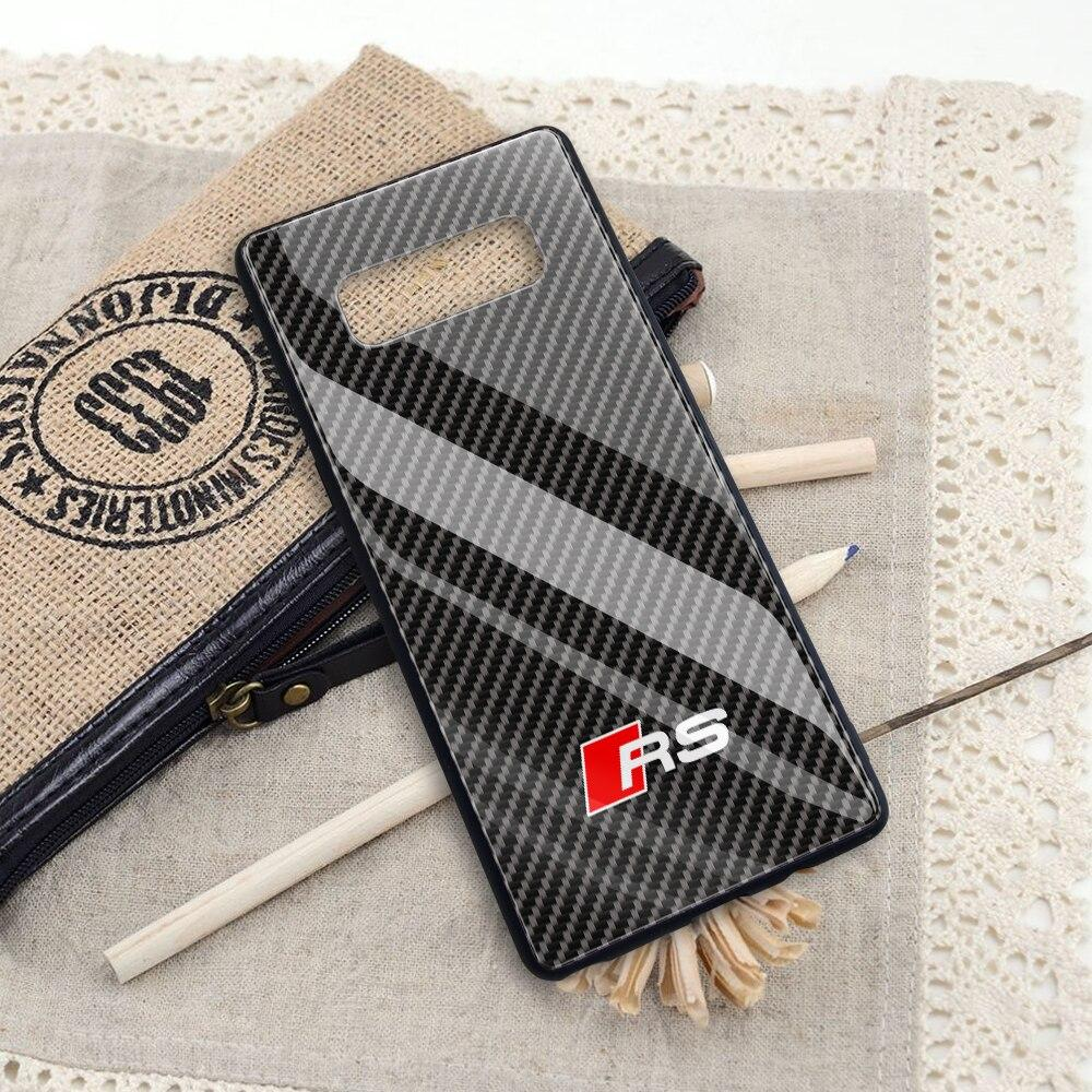 Broshop Phone Case AUDI RS / Samsung Galaxy A10 A SERIES Samsung Tempered Glass Carbon Fiber Case