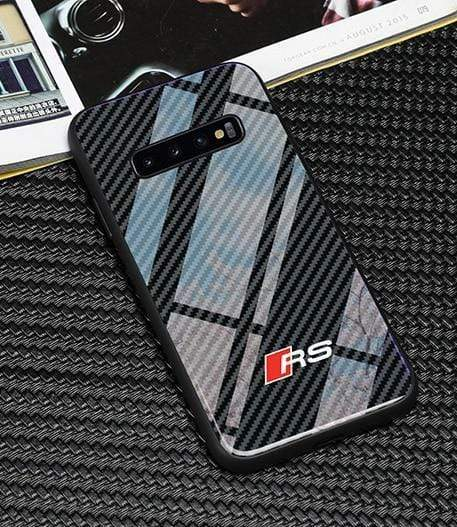 Broshop Phone Case AUDI RS / Samsung Galaxy S8 Samsung Tempered Glass Carbon Fiber Case