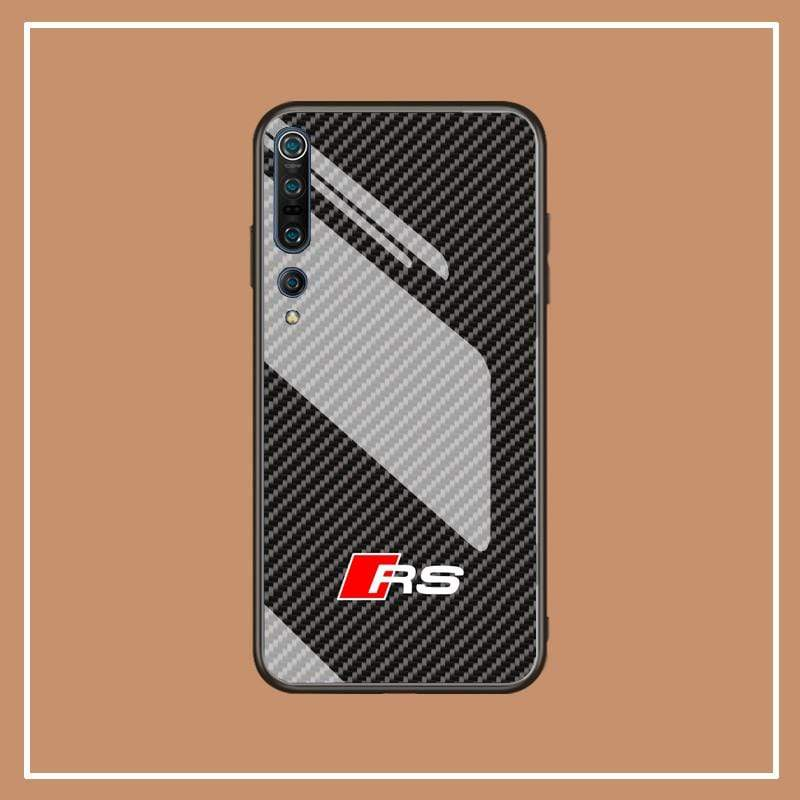 Broshop Phone Case Audi RS / Xiaomi 10 Xiaomi Tempered Glass Case AUDI/BENTLEY/MASERATI