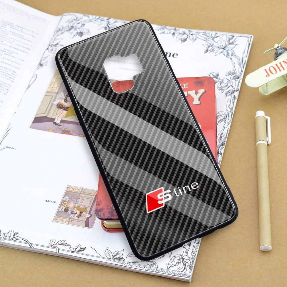 Broshop Phone Case Audi S Line / Samsung Galaxy A10 A SERIES Samsung Tempered Glass Carbon Fiber Case