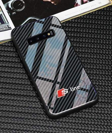 Broshop Phone Case Audi S Line / Samsung Galaxy S8 Samsung Tempered Glass Carbon Fiber Case