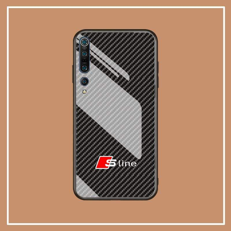 Broshop Phone Case Audi S line / Xiaomi 10 Xiaomi Tempered Glass Case AUDI/BENTLEY/MASERATI
