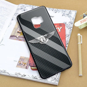 Broshop Phone Case Bentley / Samsung Galaxy A10 A SERIES Samsung Tempered Glass Carbon Fiber Case