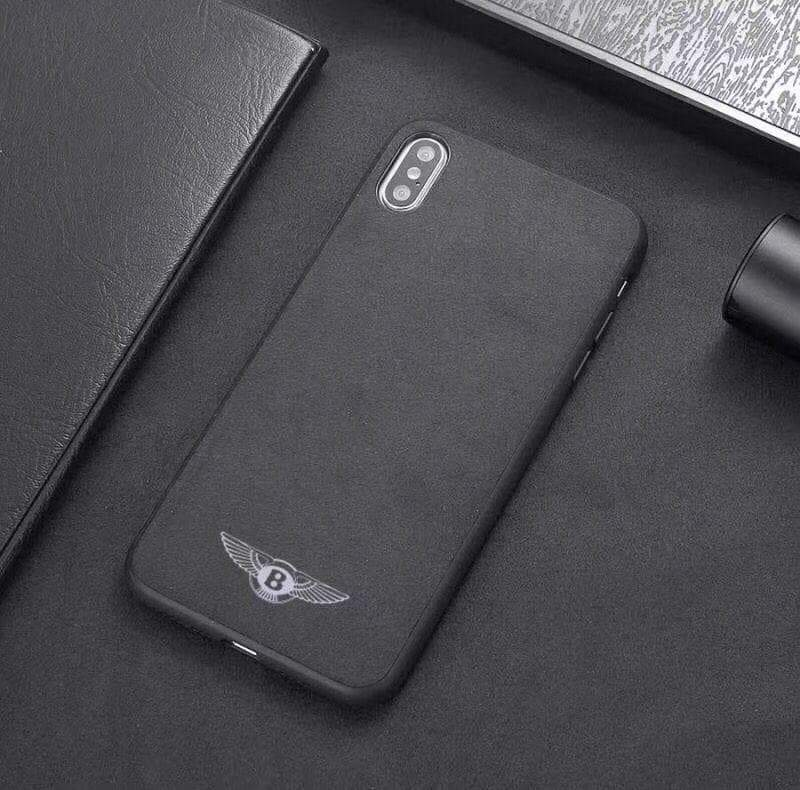 Broshop Phone Case Bentley / Samsung Galaxy S8 Samsung Luxury Alcantara Case (Audi, Abarth, Ferrari, Ford...)