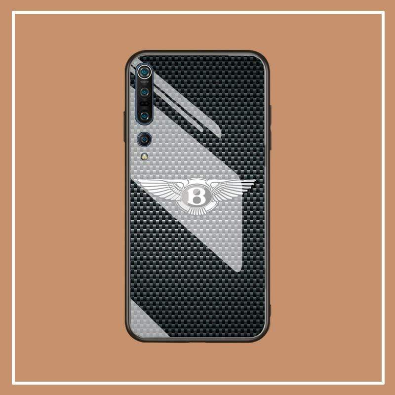 Broshop Phone Case Bentley / Xiaomi 10 Xiaomi Tempered Glass Case AUDI/BENTLEY/MASERATI