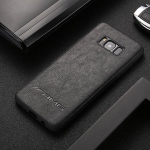 BroShop Phone Case Black AMG / Samsung Galaxy S8 AMG PU Faux Leather Samsung Case