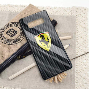 Broshop Phone Case Ferrari / Samsung Galaxy S8 {NEW!} Samsung Tempered Glass Carbon Fiber Case
