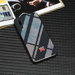 Broshop Phone Case GTR / Huawei Mate 20 Huawei Tempered Glass Carbon Fiber Case