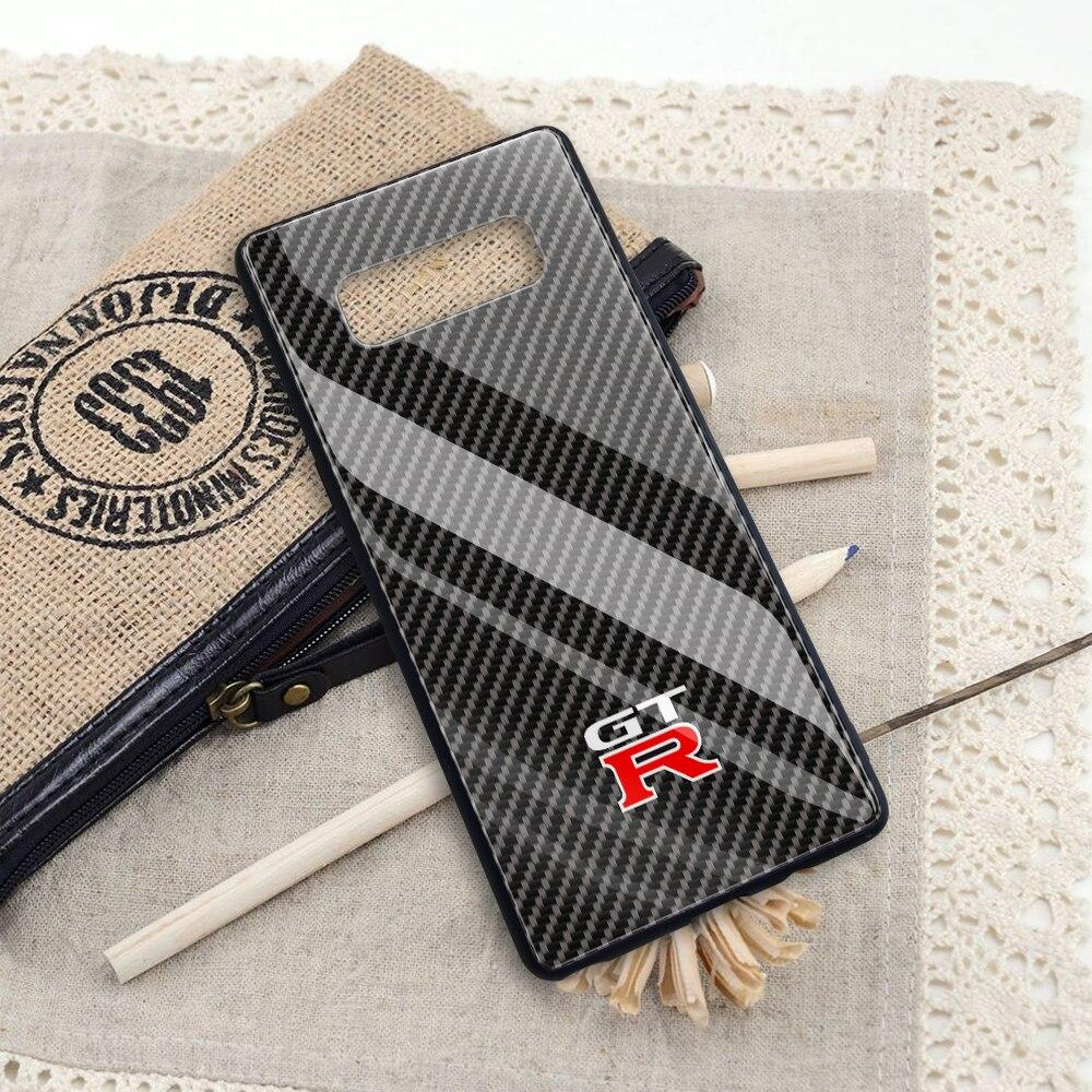 Broshop Phone Case GTR / Samsung Galaxy A10 A SERIES Samsung Tempered Glass Carbon Fiber Case