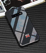 Broshop Phone Case GTR / Samsung Galaxy S8 Samsung Tempered Glass Carbon Fiber Case