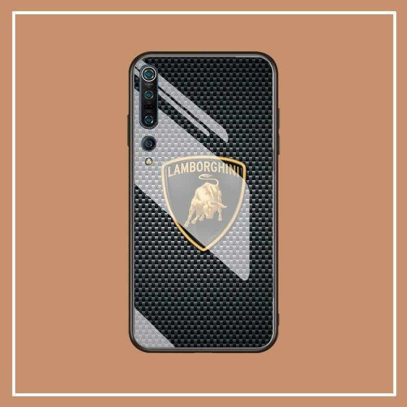 Broshop Phone Case Lamborghini / Xiaomi 10 Xiaomi Tempered Glass Case AUDI/BENTLEY/MASERATI