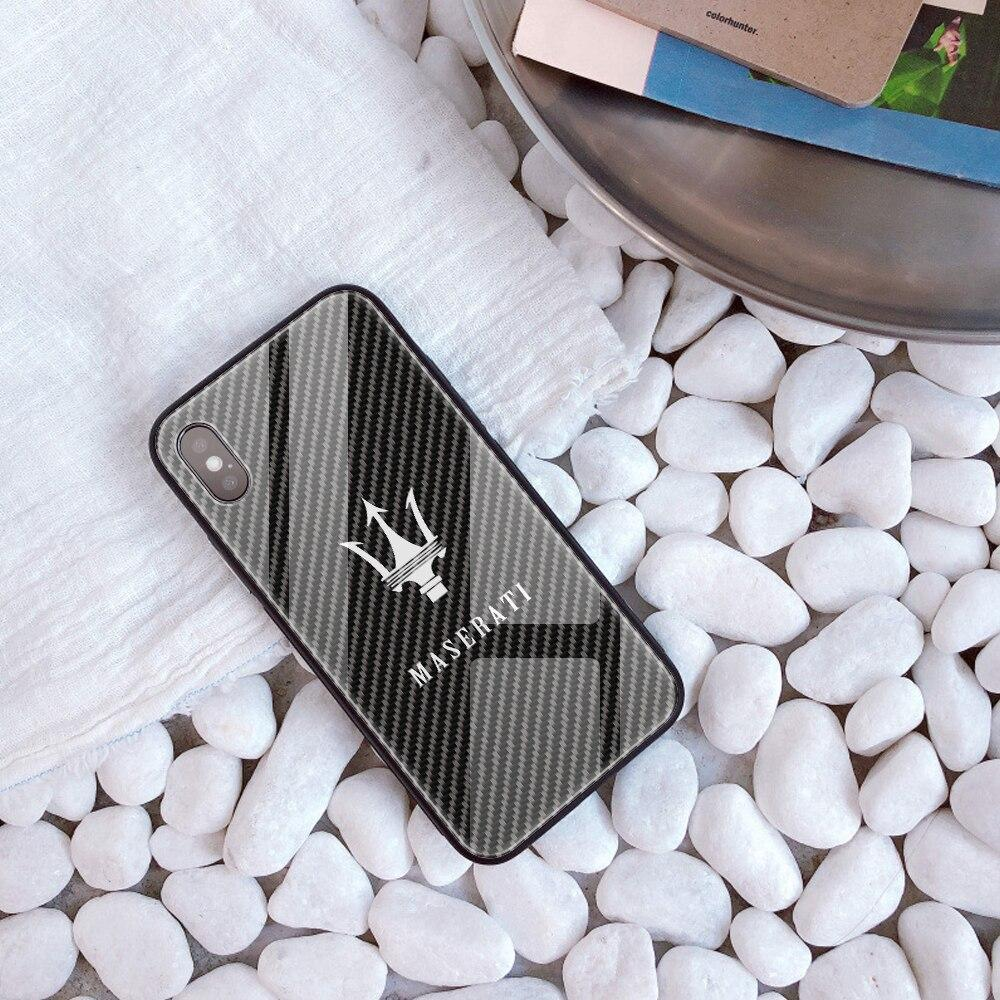 Broshop Phone Case Maserati / Iphone 6/6S Iphone Tempered Glass Case AUDI/BENTLEY/MASERATI