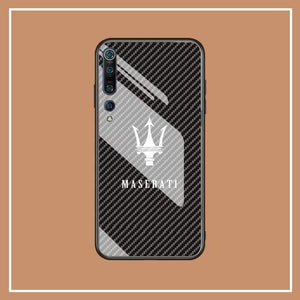 Broshop Phone Case Maserati / Xiaomi 10 Xiaomi Tempered Glass Case AUDI/BENTLEY/MASERATI